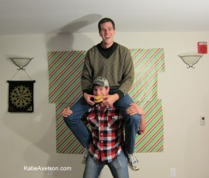 Have you ever been fed by the tall guy on your shoulders?